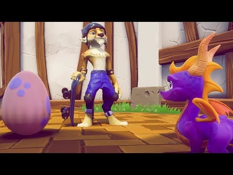 Spyro Reignited Trilogy - Sunny Villa Full Level + Skateboarding Gameplay - UC-2wnBgTMRwgwkAkHq4V2rg