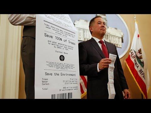 California có thể trở thành tiểu bang đầu tiên không xài hóa đơn bằng giấy