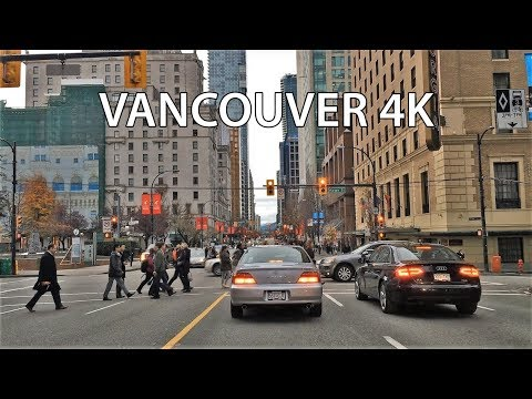 Driving Downtown - Vancouver BC Canada