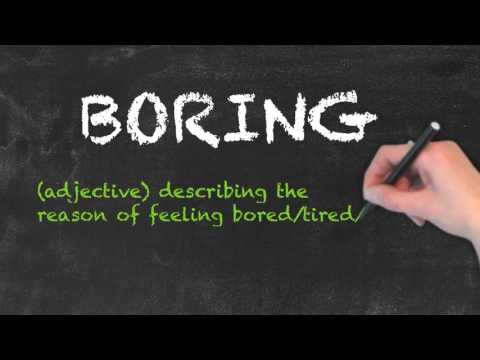 Bored vs Boring - English Grammar - Teaching Tips