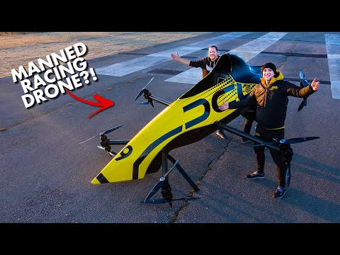 First Manned Aerobatic RACING Drone - Will it FLIP? 😲 - UC9zTuyWffK9ckEz1216noAw