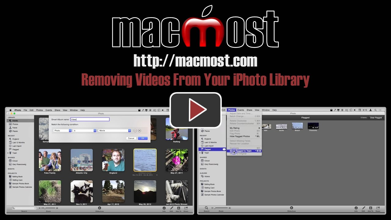 Removing videos from your iphoto library macmost baditri Images