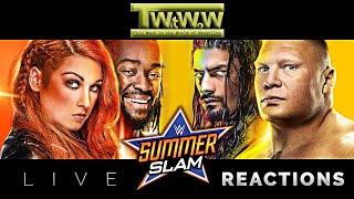LIVE REACTIONS :: WWE Summerslam 2019 :: Kickoff Show :: Apollo Crews vs. Buddy Murphy