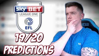 MY LEAGUE ONE 19/20 PREDICTIONS!