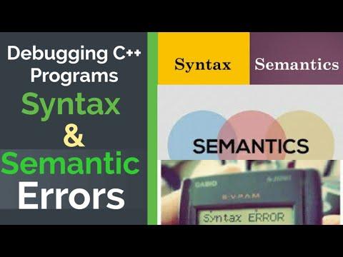 #syntaxerror #semanticerror Debugging C++ Programs | Syntax Errors | Semantic Errors