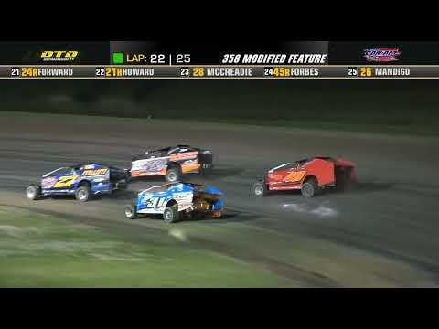 Can-Am Speedway   DIRTcar 358-Modified Feature Highlights   8/27/21 - dirt track racing video image