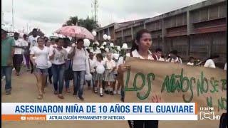 Marchas en El Retorno, Guaviare, en homenaje a niña de 10 años asesinada