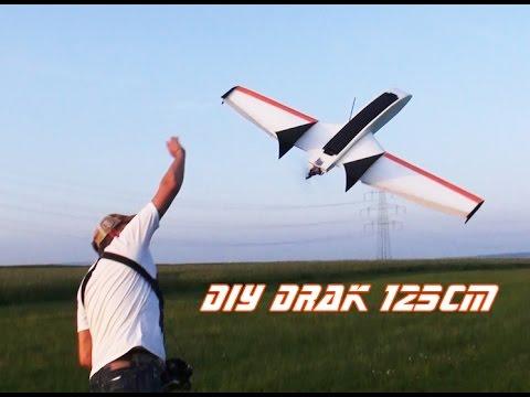 DIY mini Drak 125cm - 2. flight 4s setup!! - UC1puaTHOclDRHi2sLC8hOXg