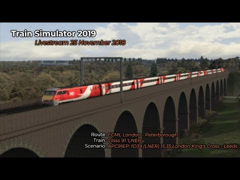 APC91EP: 1D39 (LNER) 15:35 London King's Cross - Leeds (Livestream 25/11/2018)