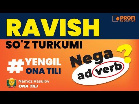 YENGIL ONA TILI. RAVISH SO`Z TURKUMI.