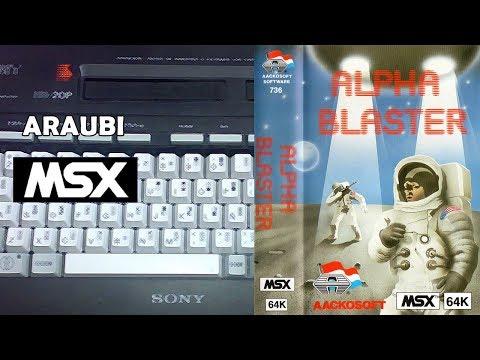 Alpha Blaster (Livewire Software, 1984) MSX [452] Walkthrough Comentado
