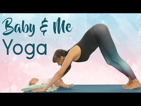 Baby & Me Yoga for Strength, Stability & Weight Loss, Intermediate Class, Postpartum Workout
