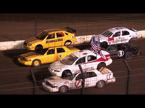 Perris Auto Speedway Double Decker Main Event 9-11-21 - dirt track racing video image