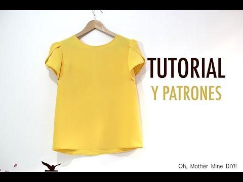DIY Costura Blusa manga amapola para mujer (patrones gratis)