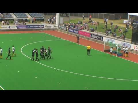 Pakistan v Belgium. Mens field hockey. Champions Trophy Melbourne.