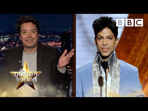 How Prince challenged Jimmy Fallon to ping-pong 😂 The Graham Norton Show – BBC