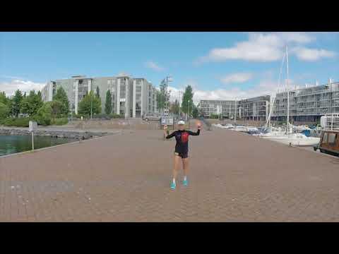 Triathlonisti Kaisa Sali kävi testaamassa Vuosaaren lenkkeilymaastot