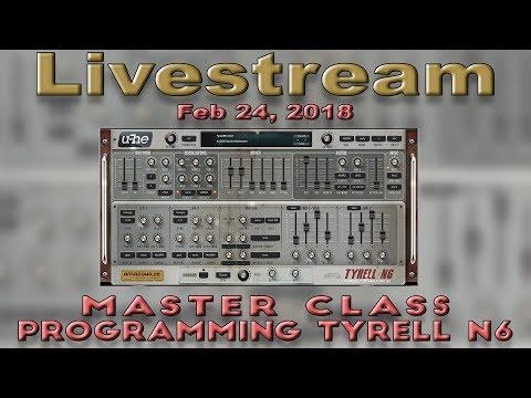 Feb 24, 2018: Master Class: Programming Tyrell N6!