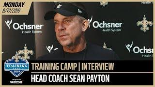 Saints HC Sean Payton Talks Roster at Saints Training Camp | New Orleans Saints