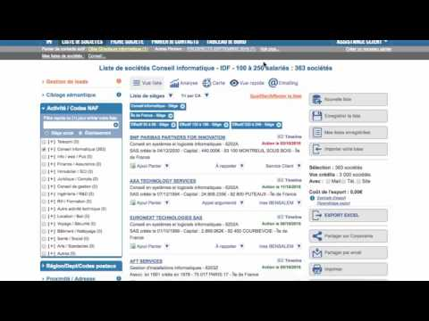 Tuto - Corporama - Pré-CRM : affection et qualification de prospects