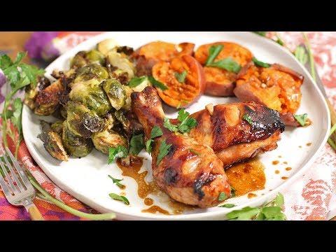 Maple Garlic Chicken   Full Meal