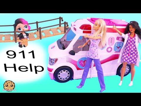 911 Call Part 3 ! Barbie Ambulance Care Clinic Car with LOL Surprise Dolls - UCelMeixAOTs2OQAAi9wU8-g