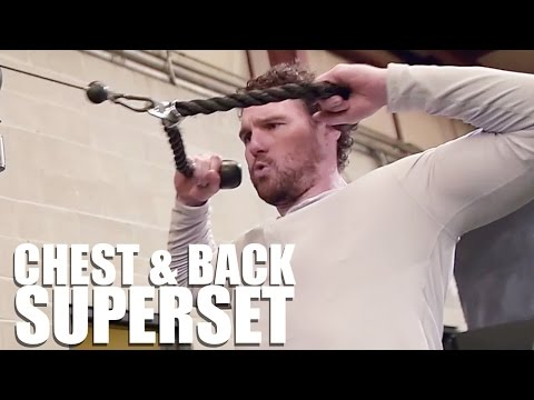 MLB All-Star Daniel Murphy's Chest and Back Superset