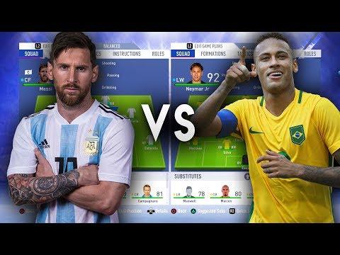 Messi's Argentina VS Neymar's Brazil - FIFA 19 Experiment