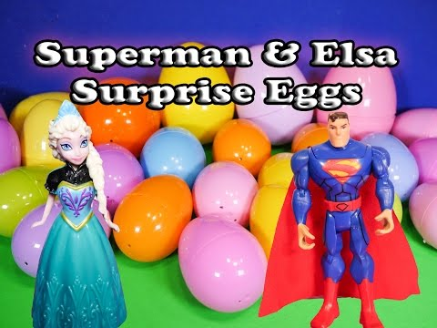 The Assistant Opens Frozen Elsa and Superman Funny Birthday  Surprise Eggs - UC44eGZ76AJLHAxPaJ_MW2RA