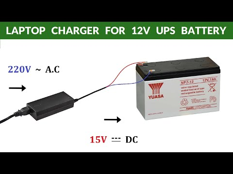 EXCELLENT RESULTS ! How to Charge 12V 7Ah UPS Battery ( Deep Discharged ) with Laptop Charger DIY