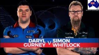 2019 Melbourne Darts Masters Quarter Final  Gurney vs Whitlock