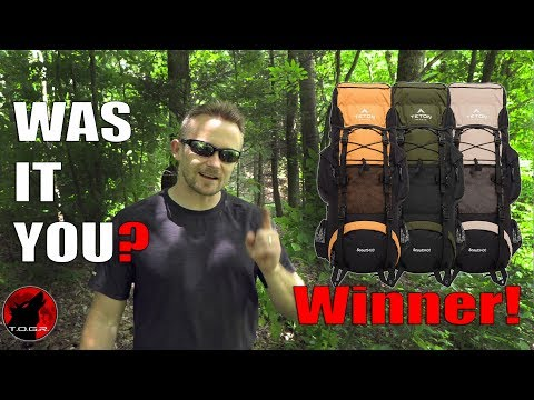 Winner Announcement - Teton Sports Scout 3400 Backpack