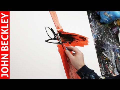 Abstract Art Painting Demonstration With Acrylics | Silia