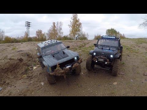 Сравнительный тест-драйв Jeep Rubicon и Jeep Cherokee  (Axial SCX10) - UCX2-frpuBe3e99K7lDQxT7Q