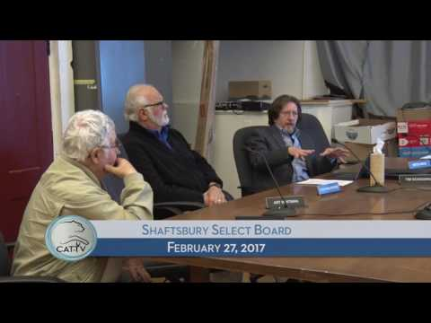 Shaftsbury Select Board - 2/27/17