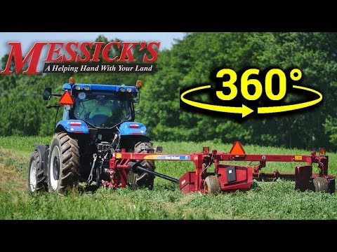Mowing Hay - 360 VIDEO! - NEW HOLLAND T4.75 \ H7230 Discbine Picture