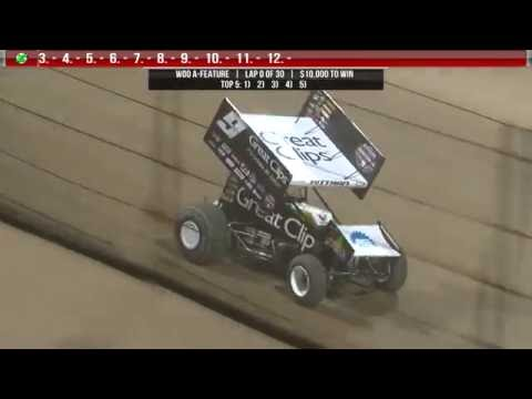 9.24.16 World of Outlaws Highlights | #B4TheCrowns - dirt track racing video image
