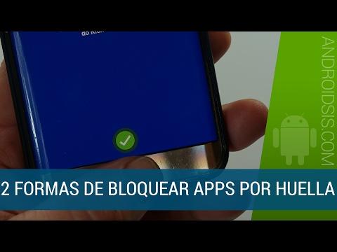 2 formas de bloqueo de apps por huella dactilar