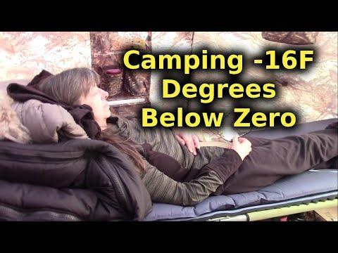 Camping In Comfort At Minus 16 Degrees Fahrenheit