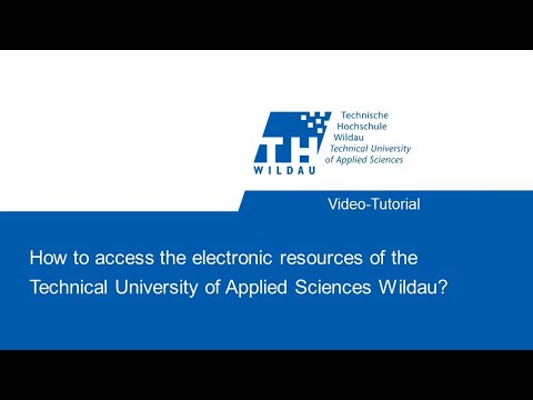 How can I use the electronic media stock of the TH Wildau University Library off campus?
