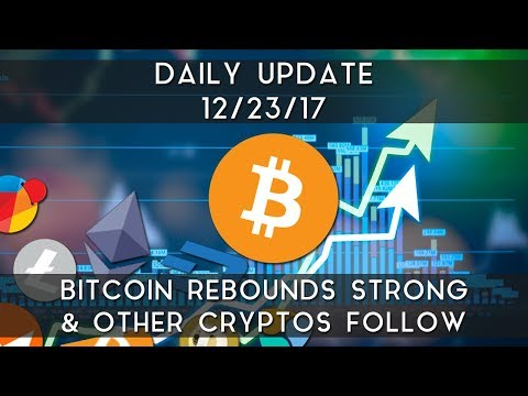 Daily Update (12/23/17) | Bitcoin rebounds strong after sell-off