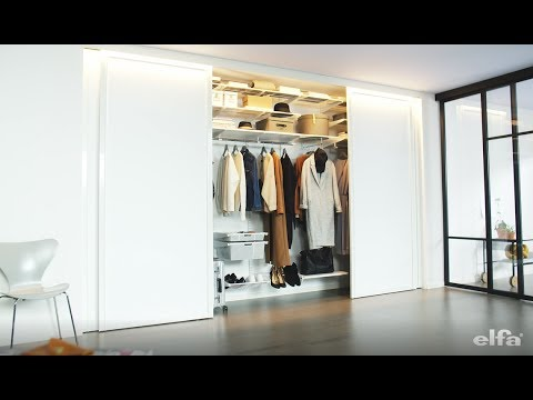 Elfa Sliding Doors: top hung door functions
