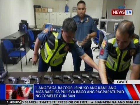 NTVL: Ilang taga-Bacoor, isinuko ang kanilang mga baril bago ang pagpapatupad ng COMELEC gun ban