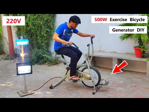 220V Electric Bicycle Generator from 500W DC Motor - Awesome Idea ( Part 2 )