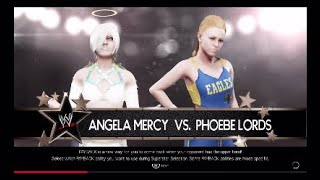 WWE 2K19 One on One - Angela Mercy vs Phoebe Lords