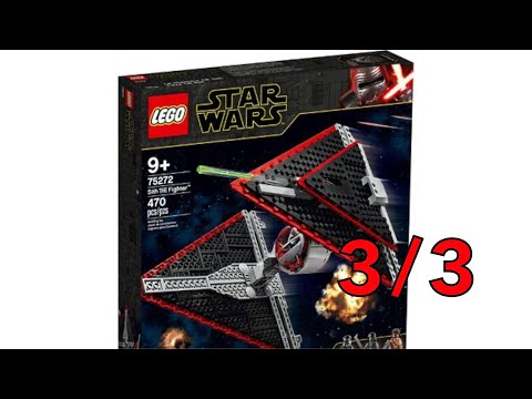 Building the Sith TIE Fighter Part 3 (LEGO Star Wars 75272)