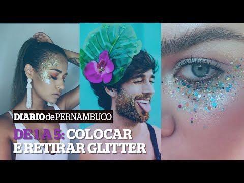 De 1 a 5: Como fixar e retirar glitter