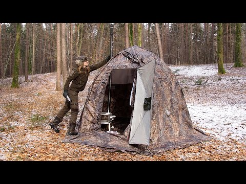Overnight In Winter - Hot Tent Camping