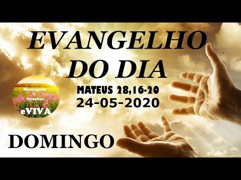 EVANGELHO DO DIA 24/05/2020 Narrado e Comentado - LITURGIA DIÁRIA - HOMILIA DIARIA HOJE