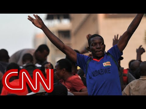 Celebrations in Zimbabwe after Robert Mugabe resigns